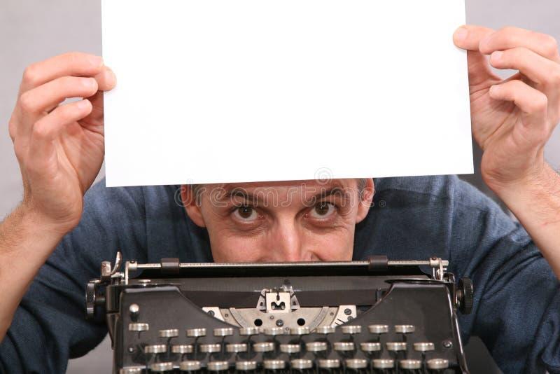 пустая выставка листа человека 2 стоковое фото rf