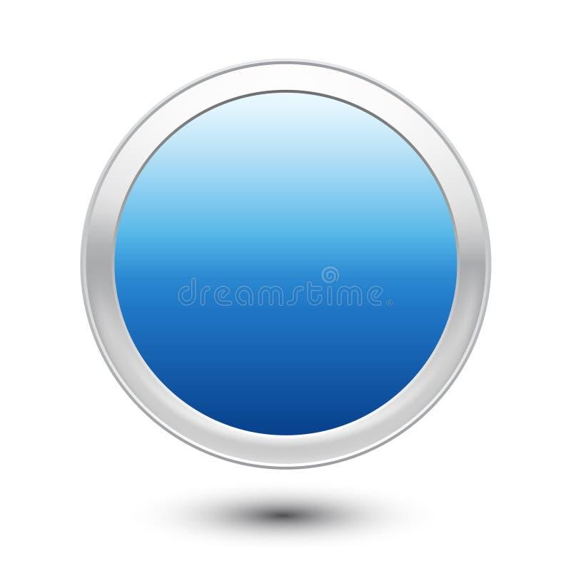 Пустая кнопка иллюстрация штока