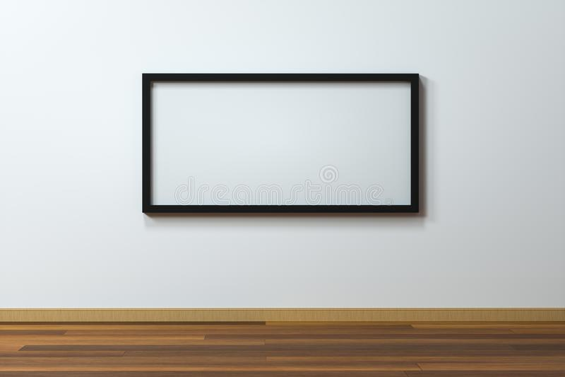 Пустая доска мольберта с деревянной предпосылкой пола, переводом 3d бесплатная иллюстрация