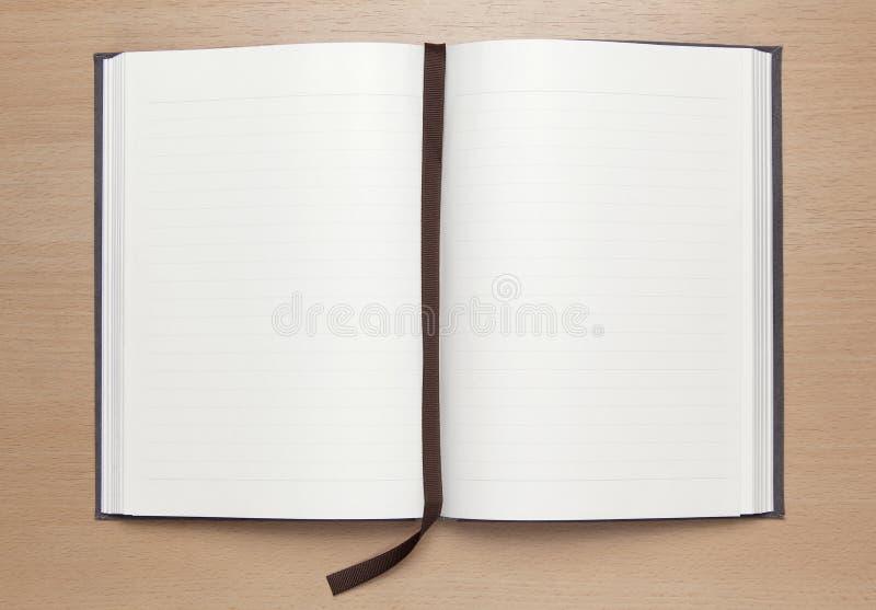 пустая древесина таблицы тетради стоковое изображение