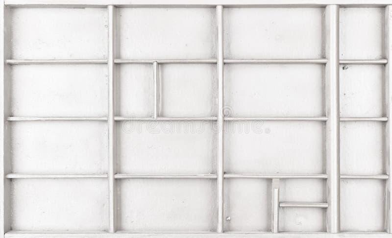 Пустая деревянная белизна покрасила семя или письма или коробку collectibles стоковая фотография