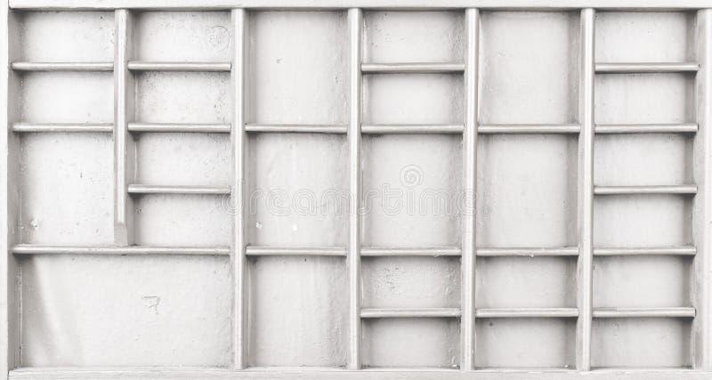 Пустая деревянная белизна покрасила семя или письма или коробку collectibles стоковое фото