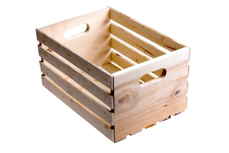 Пустая деревянная клеть плодоовощ стоковая фотография rf