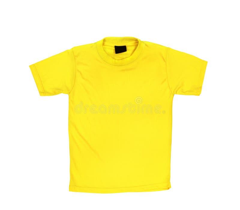 Пустая желтая футболка стоковые изображения