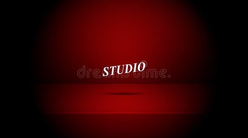 Пустая затмленная студия красного цвета бесплатная иллюстрация