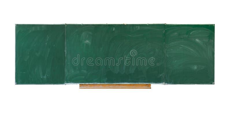 Пустая зеленая доска, текстура классн классного с космосом экземпляра на белой предпосылке стоковые фотографии rf