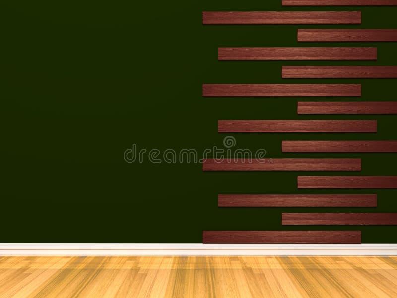 пустая зеленая комната иллюстрация вектора