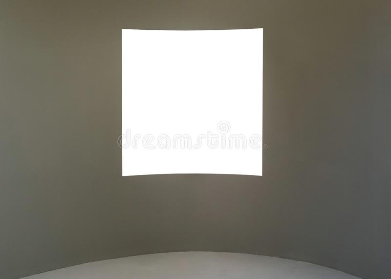 Пустая пустая золотая рамка на белой предпосылке Художественная галерея, museu стоковая фотография rf