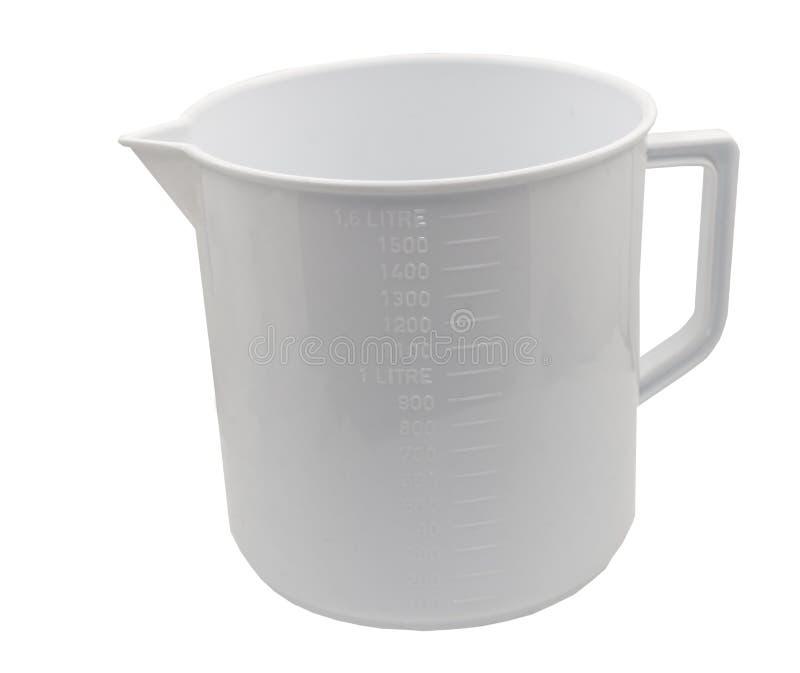 Пустая измеряя чашка изолированная на белизне стоковое фото rf