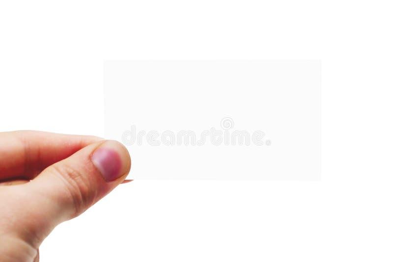 пустая изолированная визитная карточка стоковая фотография rf