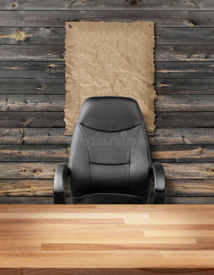 Пустая исполнительная концепция восможности трудоустройства стула стоковые изображения rf