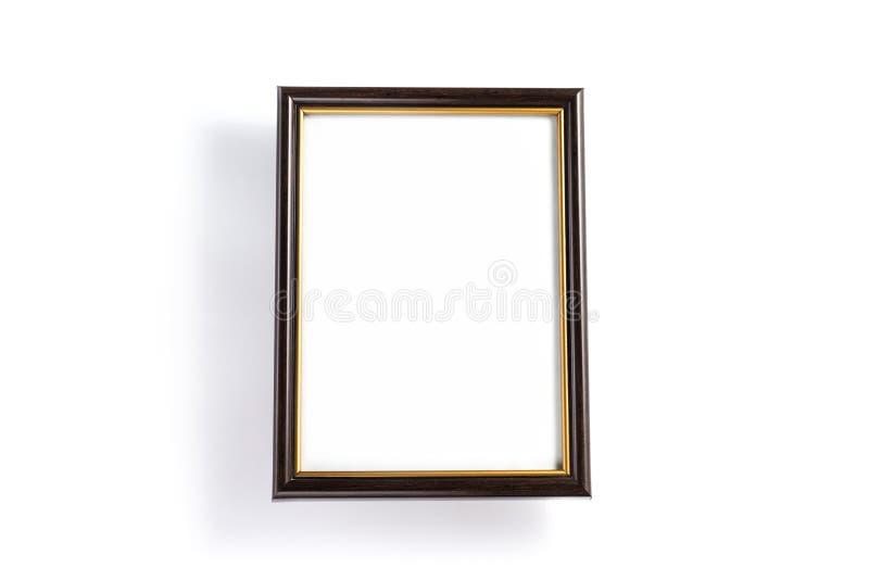Пустая картинная рамка изолированная на белой предпосылке стоковые изображения rf