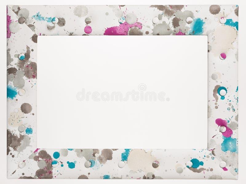 Пустая картинная рамка на белой предпосылке стоковые изображения rf