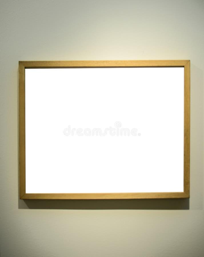 Пустая картинная рамка на стене галереи стоковая фотография rf