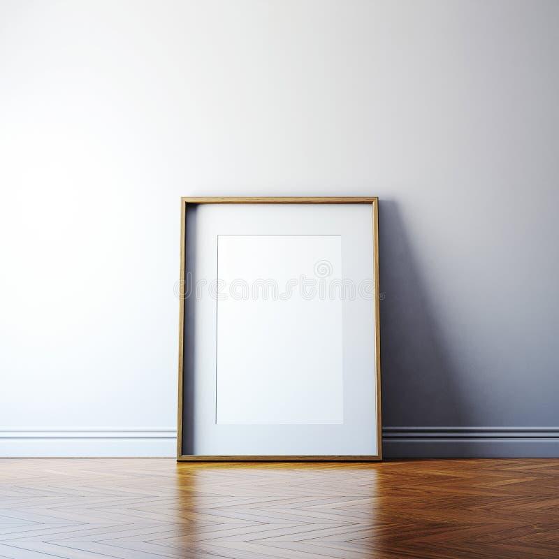 Пустая картинная рамка на стене стоковые фото