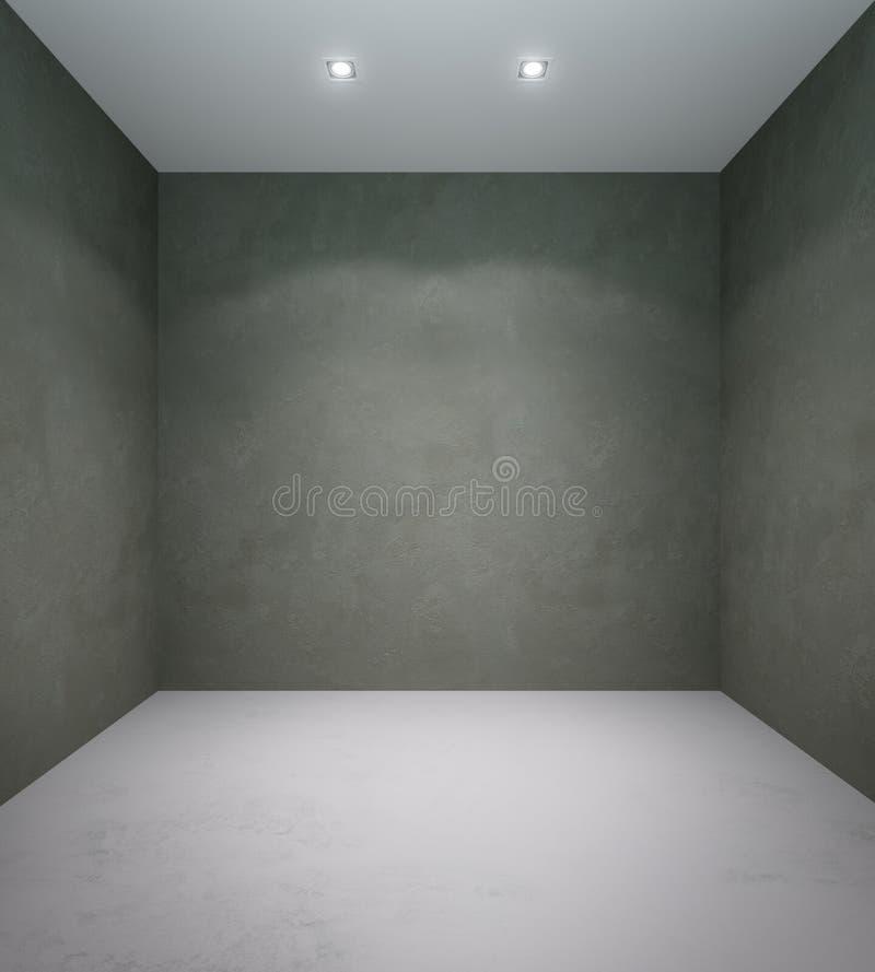 Пустая квадратная комната стоковое изображение rf