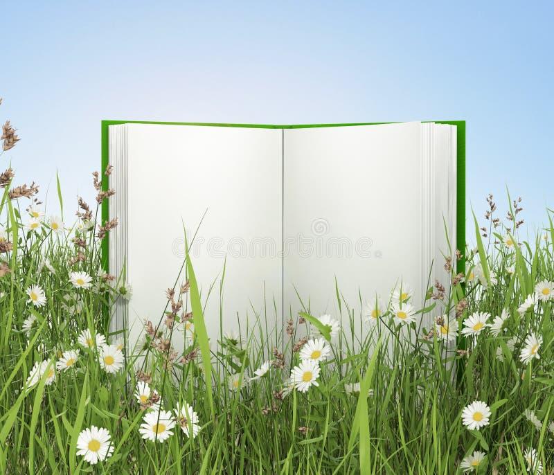 пустая книга раскрыла стоковое изображение rf