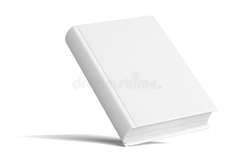 Пустая книга с тенями Насмешка вверх по шаблону стоковое изображение