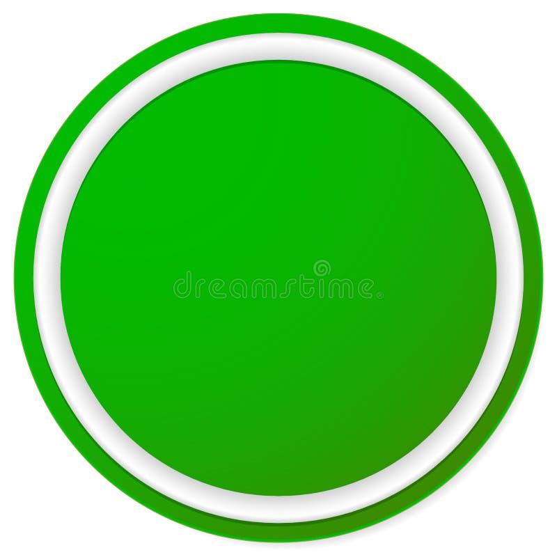 Download Пустая кнопка круга, предпосылка значка изолированная на белизне Иллюстрация вектора - иллюстрации насчитывающей график, badged: 81813920