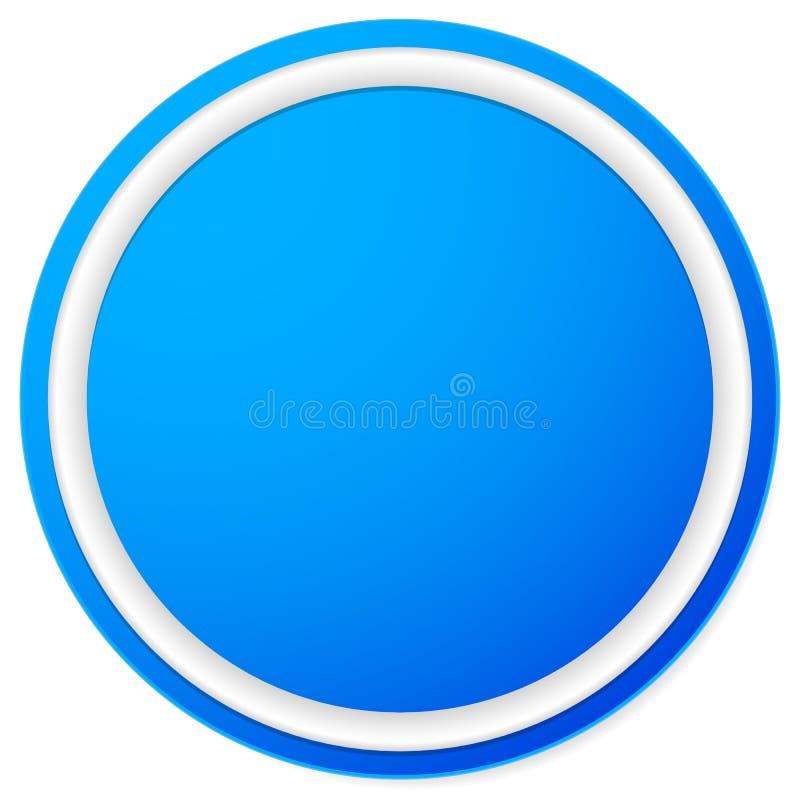 Download Пустая кнопка круга, предпосылка значка изолированная на белизне Иллюстрация вектора - иллюстрации насчитывающей badged, уговариваний: 81813933