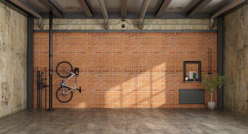 Пустая комната в просторной квартире иллюстрация вектора
