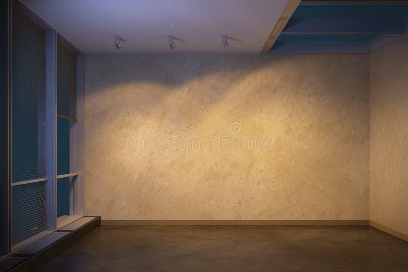 Пустая комната на вечере иллюстрация штока