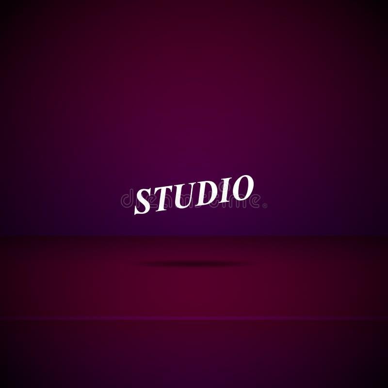 Пустая комната студии иллюстрация вектора
