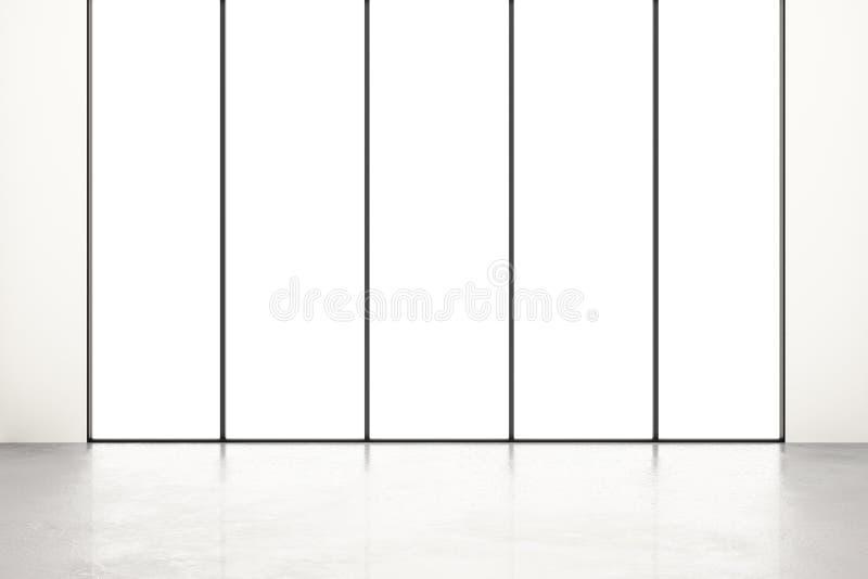 Пустая комната с белым окном иллюстрация вектора
