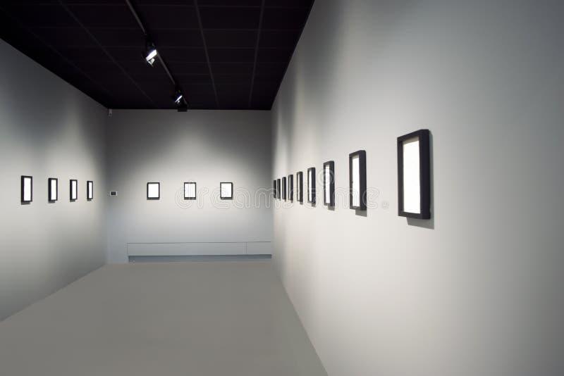 Пустая комната художественной выставки стоковая фотография