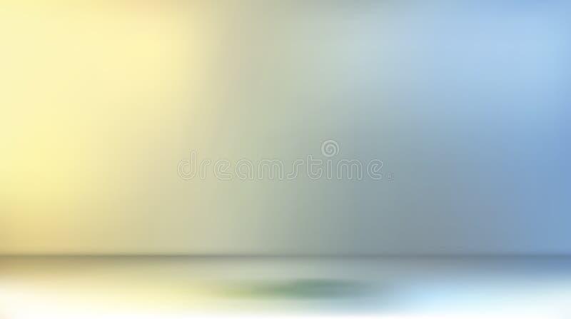 Пустая комната для представления продукта иллюстрация штока