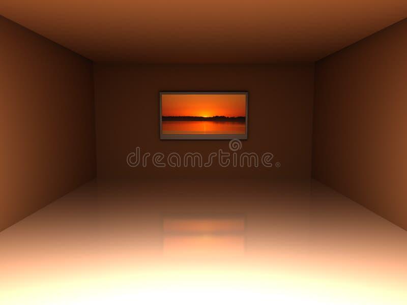 пустая комната tv бесплатная иллюстрация