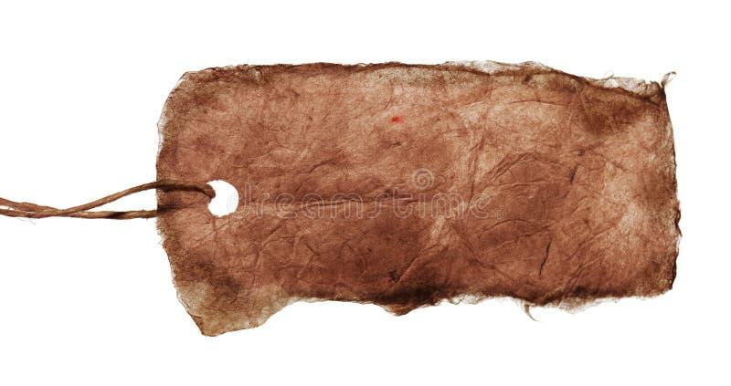 пустая коричневая связанная бирка шнура стоковые изображения rf