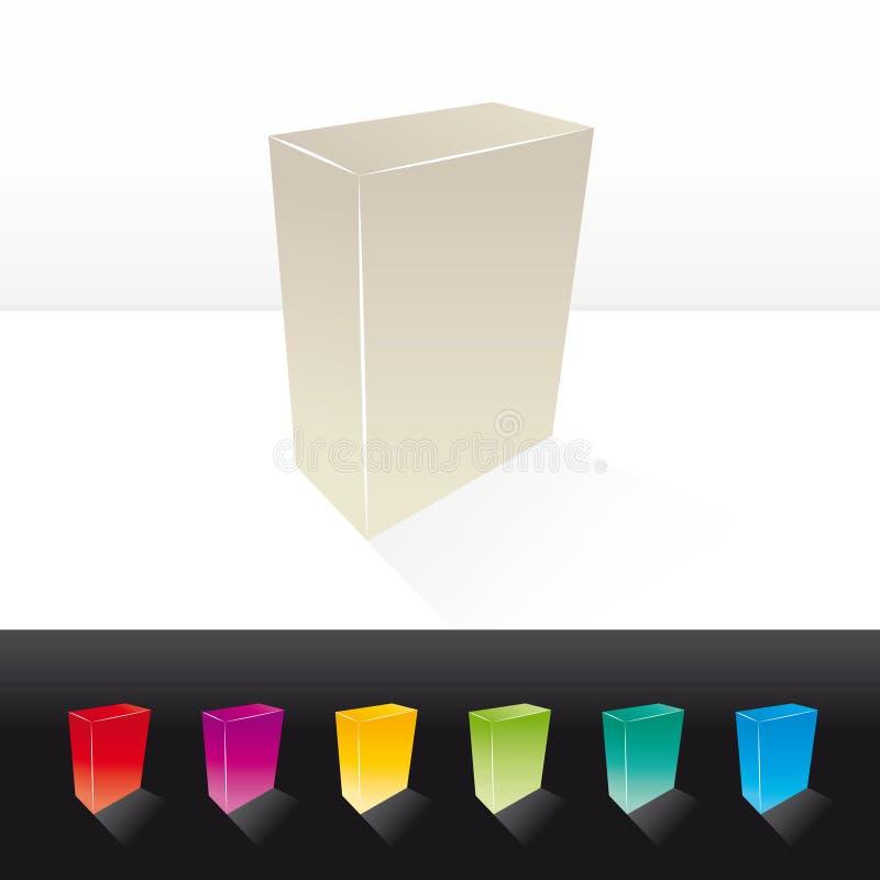 пустая коробка 3d иллюстрация вектора