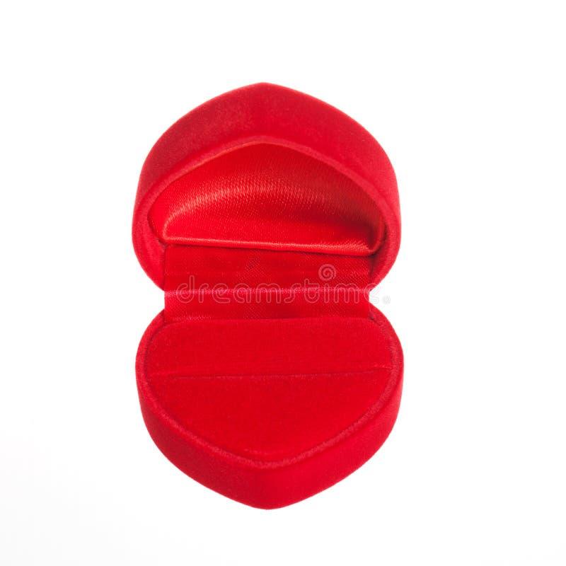 Пустая коробки кольца изолированная на белой предпосылке стоковое изображение