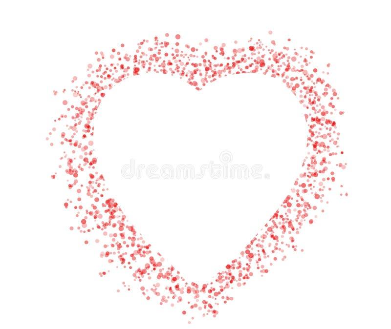 Пустая красочная форма сердца дня валентинки символа для изолята текста бесплатная иллюстрация