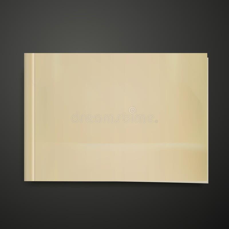 пустая крышка книги иллюстрация вектора