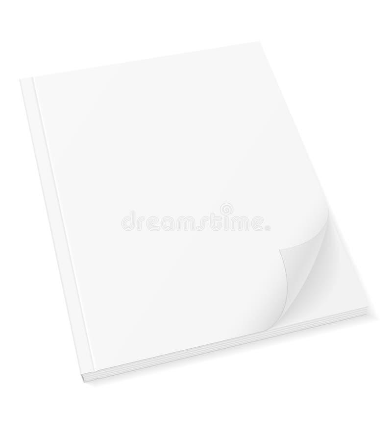 Пустая крышка шаблона vec запаса кассеты брошюры буклета книги бесплатная иллюстрация