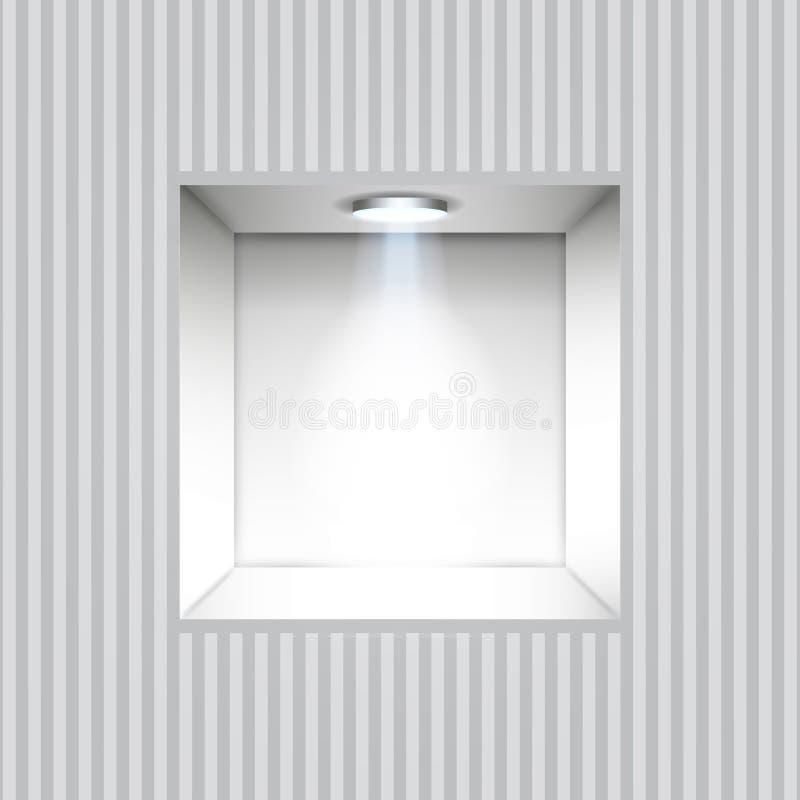 Пустая ниша в стене иллюстрация вектора