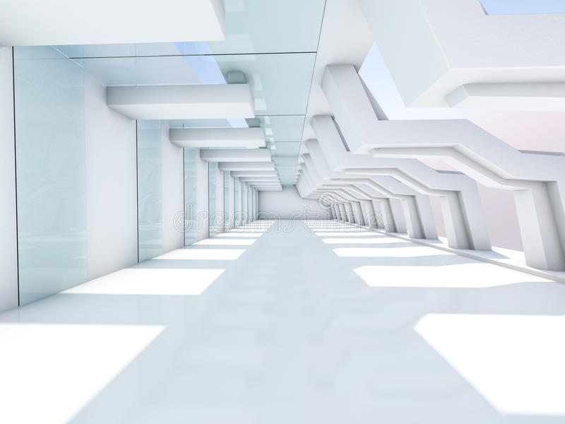 пустая нутряная белизна 3d стоковые фотографии rf
