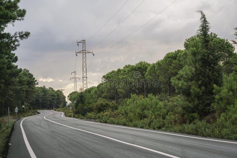 Пустая дорога асфальта стоковые фотографии rf
