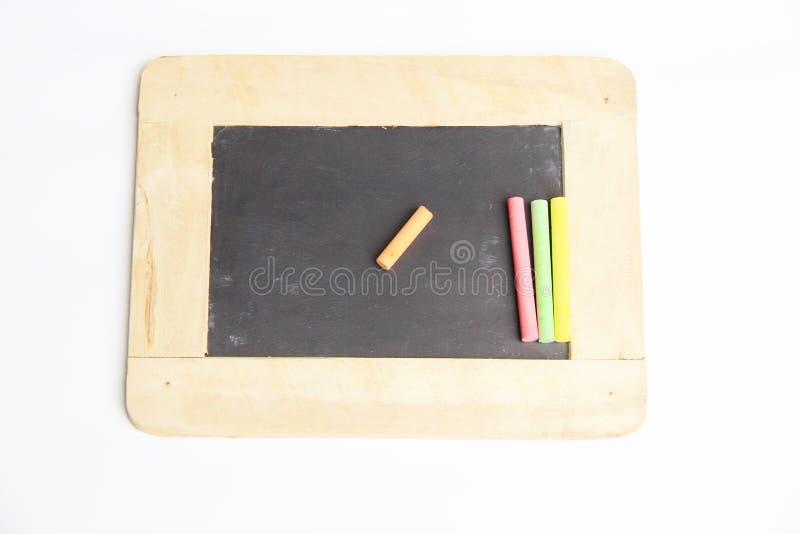 Пустая доска с деревянной рамкой стоковые изображения rf
