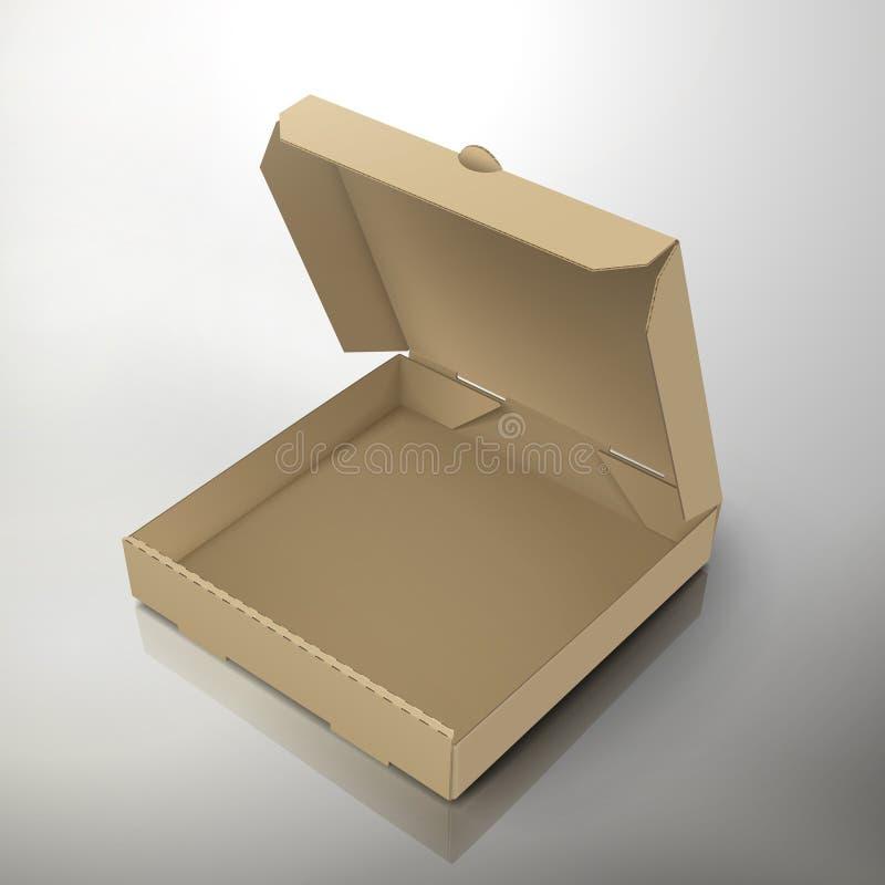 пустая пицца коробки иллюстрация вектора
