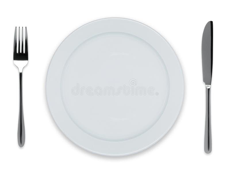 Пустая плита обеда стоковое фото rf