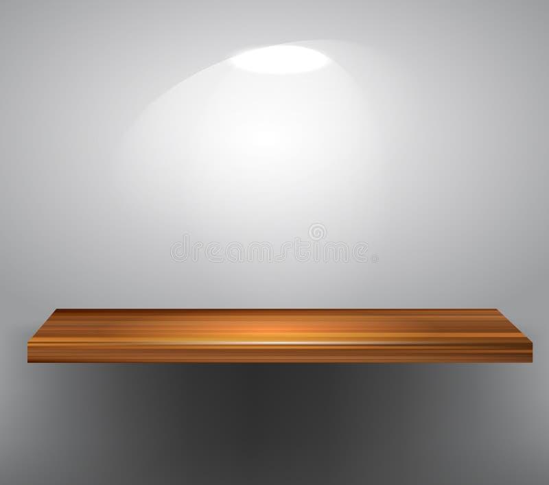 пустая полка деревянная иллюстрация штока