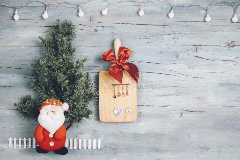 Пустая предпосылка для меню или рецептов рождества стоковое изображение rf