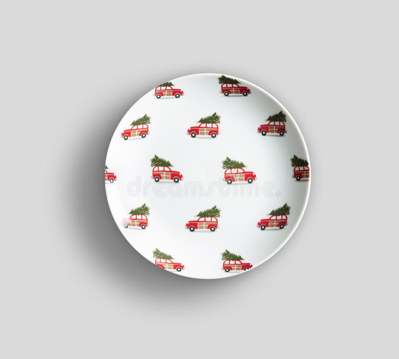 Пустая предпосылка плиты блюда цвета - пустое блюдо цвета фарфора обедать плиты r стоковая фотография