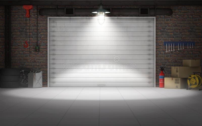 Пустая предпосылка гаража ремонта автомобиля бесплатная иллюстрация