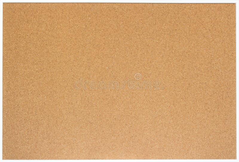 Пустая пробковая доска при белая деревянная изолированная рамка, стоковые изображения