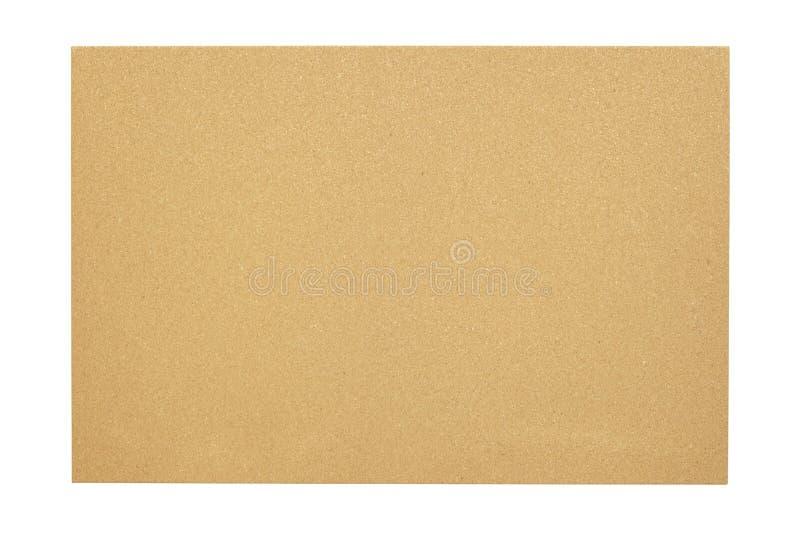 Пустая пробковая доска с деревянной рамкой изолированной на белой предпосылке стоковое фото rf
