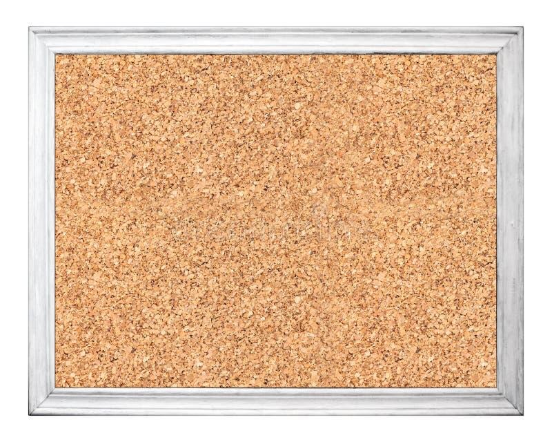 Пустая пробковая доска в белой деревянной рамке стоковое фото rf